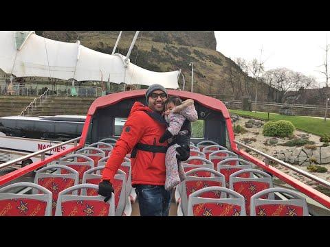 স্কটল্যান্ডের টুরিস্ট বাসে করে শহর ঘুরি। Lucky Sumon Vlogs