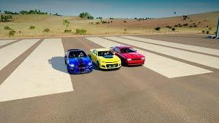 2017 Chevrolet CAMARO ZL1 Vs Shelby GT350R Vs Dodge HELLCAT - DRAG RACE! Forza Horizon 3