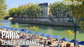 Seine River On a Sunday, Paris - 🇫🇷 France - 4K Walking Tour