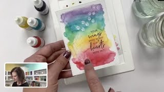Cat Lovers Release Overview | Pet Sympathy Card ft. Watercoloring Technique | Taylored Expressions