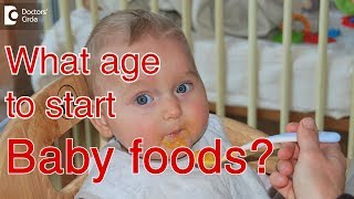 "What age can I give my baby ""baby food""? - Dr. Dhanashree Kulkarni"