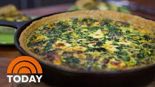 Ryan Scott Makes Baby Vegetable Quiche And Baby Back Ribs With A Big Announcement |TODAY