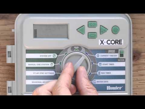 Programador de Riego Hunter X-Core: Programación del Programa A