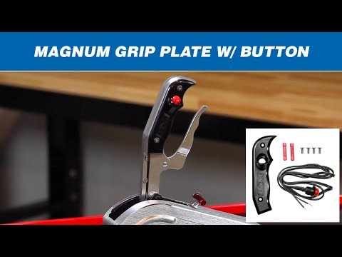 B&M Magnum Grip Stealth Side Plate w/Button (Right Side) 81078