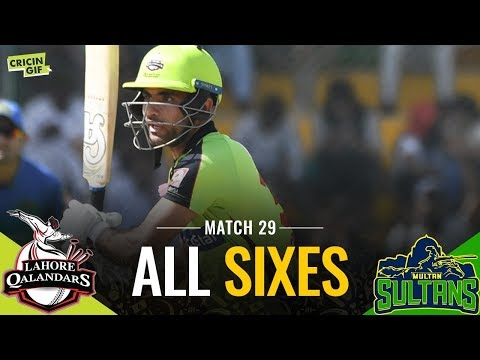PSL 2019 Match 29: Lahore Qalandars v Multan Sultans | PEL ALL SIXES