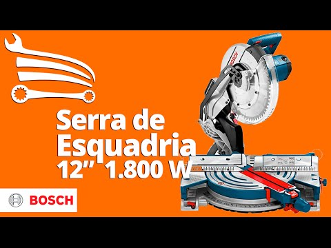 Serra de Esquadria 1800W 12 Pol.  - Video