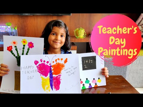 World Teacher's Day Drawing for Kids | Teacher's Day Paintings | Cards for Teacher's Day