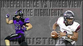 Frisco Independence vs Timberview - 2019 Texas High School Football Playoffs Week 1 Highlights