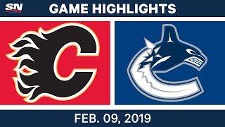 NHL Highlights   Flames vs. Canucks - Feb 9, 2019