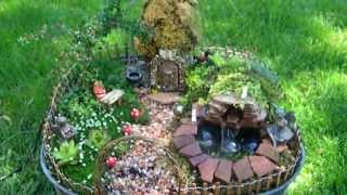 Fairy Garden With Pond And Waterfall Miniature