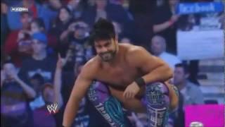 WWE SmackDown 1/6/12 Justin Gabriel Saves Hornswoggle & Attacks Health Slater