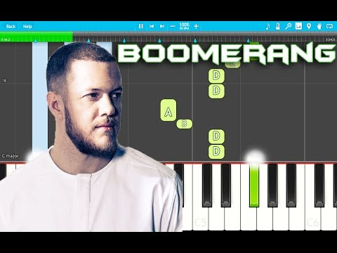 Imagine Dragons - Boomerang Piano Tutorial EASY (Origins) Piano Cover