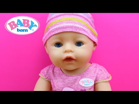Muñeca Bebé Interactiva Baby Born BANDAI en español | La bebé come papilla llora y hace pipí