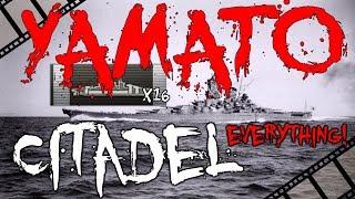 YAMATO 400K - 16 citadels Base exp over 4100 || World of Warships
