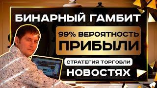 Как торговать на новостях - стратегия торговли на новостях Бинарный Гамбит дает 100 результат