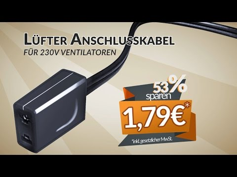 Lüfter Anschlusskabel für 230V Ventilatoren