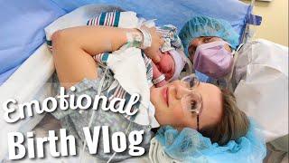 BABY BOY IS FINALLY HERE! | Emotional LIVE Birth Vlog