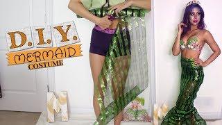 DIY MERMAID HALLOWEEN COSTUME TUTORIAL | UNDER $10, EASY | MIANA LAUREN