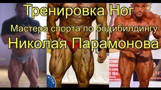 Николай Парамонов (Бодибилдинг 100кг+) Тренировка Ног @StepGym2015 Домашняя Качалка