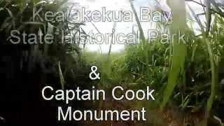 preview picture of video 'Kealakekua Bay State Historical Park hike and Captain Cook snorkelling'