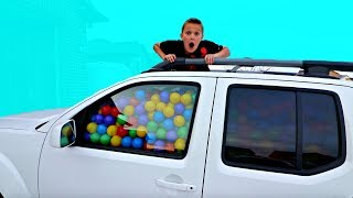 BALL PIT BALLS PRANK! Filled His Truck with Ball Pit Balls