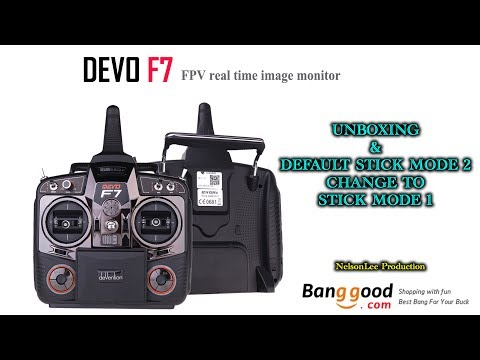 Walkera Devo F7 - Unboxing & Stick Mode Changing Guide