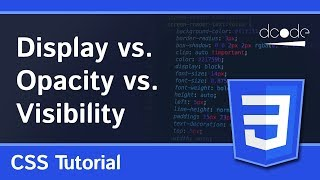 Hiding elements with display, opacity or visibility? (CSS)