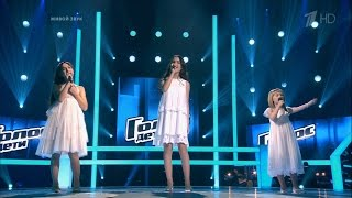 The Voice Kids RU 2016 Aleksandra, Yaroslava and Ivena — «Все пути Ангелов» Battles   Голос Дети 3