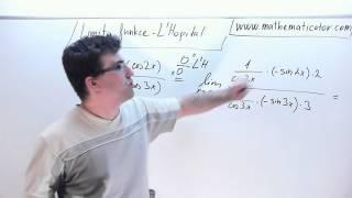Limita funkce - L'Hopital - Příklad 9. 10. 2014
