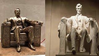 Назарбаеву изваяли  памятник, похожий на  монумент  Линкольна