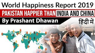 World Happiness Report 2019 Pakistan Happier than India and China Current Affairs 2019