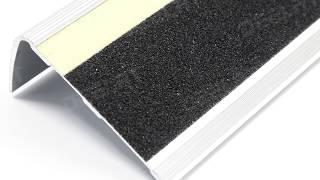 Aluminum-Carborundum and Luminous Strip Stair Nosing - 67.72x31.63 mm