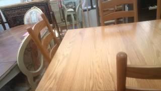 10 seat oak dining table