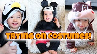 Trying on Baby Halloween Costumes!