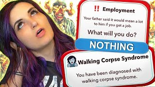 I Became an ACTUAL ZOMBIE by Choosing to do ABSOLUTELY NOTHING ...in BitLife