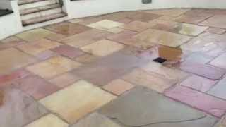 preview picture of video 'Indian Sandstone Patio Cleaned In Gloucester'