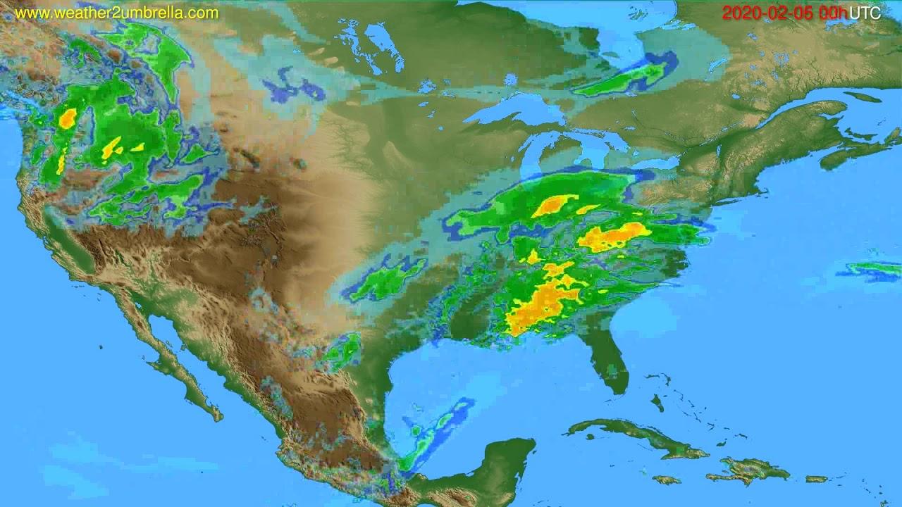 Radar forecast USA & Canada // modelrun: 12h UTC 2020-02-05