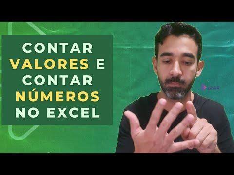 CONT.VALORES e CONT.NM: Como contar valores e como contar nmeros no Excel