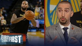 Nick Wright analyzes how DeMarcus Cousins will impact the Warriors | NBA | FIRST THINGS FIRST
