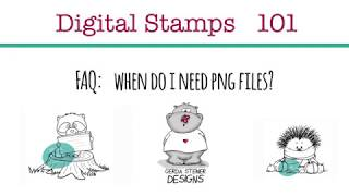 How To Use Png Files For Digital Stamps.