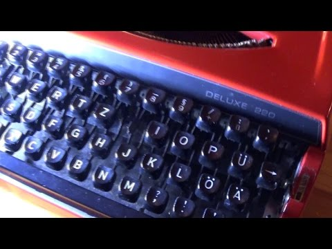 Mechanische Schreibmaschine: Vergleich zur PC-Tastatur