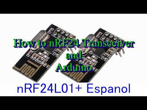 Nrf24l01 + 2.4ghz transceptor inalámbrico para Arduino