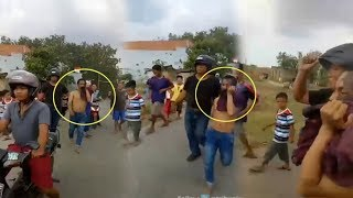 Kocak! Pemuda Wajah Bertato Memeras Sopir Truk, Tapi Nangis Ditangkap Polisi