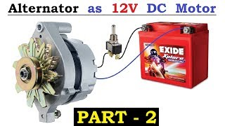 12v 120 Amps Car Alternator Converted To DC Motor With High Torque Using BLDC Controller   Part 2