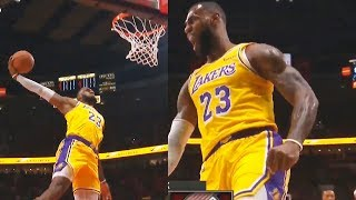 LeBron James Makes The Crowd GO CRAZY With Back To Back Dunks in Lakers Debut! Lakers vs Blazers