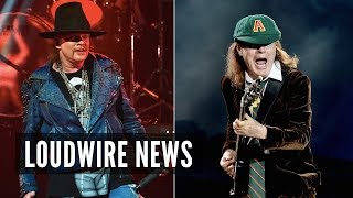 AC/DC Announce Axl Rose as New Singer; Angus Young Performs With GN'R