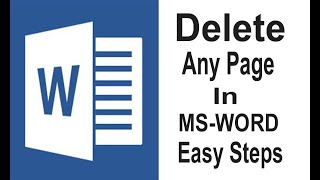 How to delete page in ms word | Remove Blank Page in ms word |Shortcut key to delete page in ms word