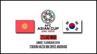 Link Live Streaming Piala Asia 2019 Kyrgystan Vs Korea Selatan, Jumat Pukul 23.00 WIB
