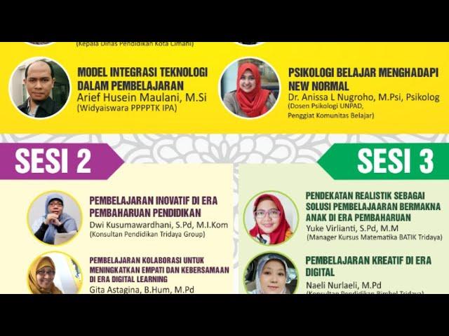 Webinar Tridaya Group Kebangkitan Nasional Semangat Pembaharuan