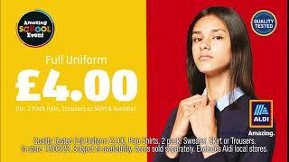 Aldi School Uniforms In Store Now Advert